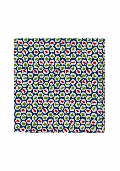 GREEN PATTERN SILK POCKET SQUARE
