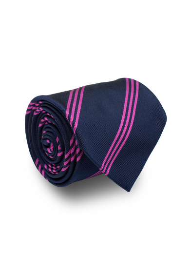 NAVY PURPLE STRIPE TIE