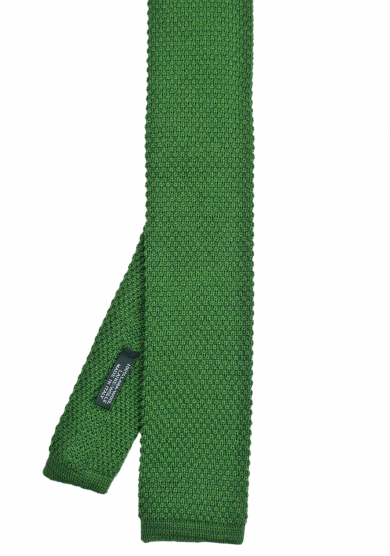 GREEN SOLID WOOL TIE