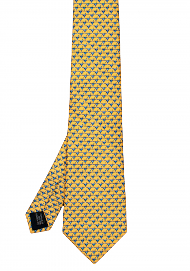 YELLOW COCKTAIL SILK TIE