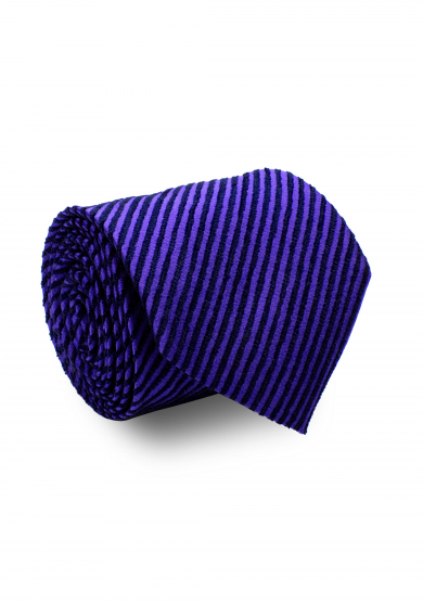 BLUE VELVET STRIPE SILK TIE