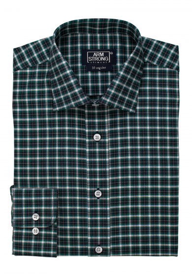 GREEN NAVY CHECK TWILL