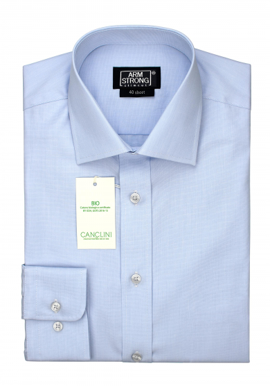 ECO LIGHT BLUE POPLIN