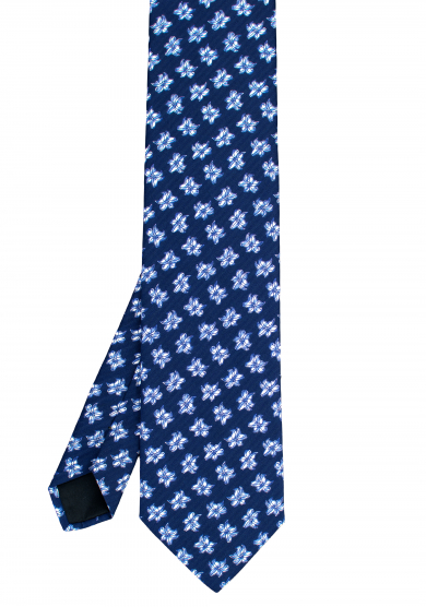BLUE WHITE FLOWER TIE