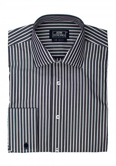 BLACK STRIPE POPLIN