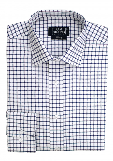 NAVY CHECK OXFORD