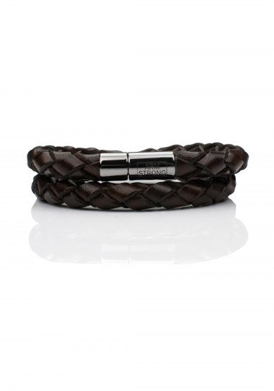 BLACK DOUBLE BRAIDED BRACELET
