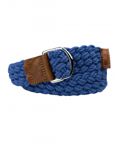 BLUE COTTON BRAIDED BELT