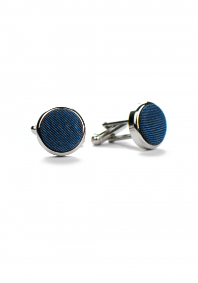 BLUE DENIM CUFF LINK