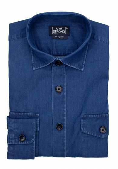 BLUE DENIM OVERSHIRT TWILL