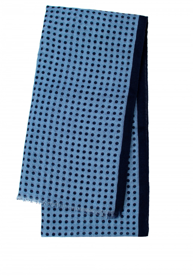 BLUE DOT WOOL SCARF