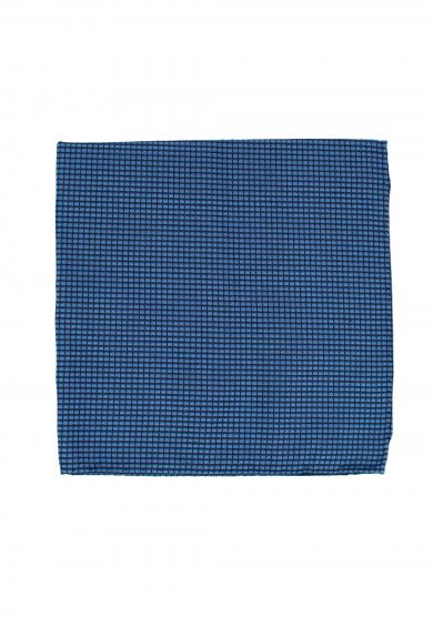 BLUE NAVY CHECK POCKET SQUARE