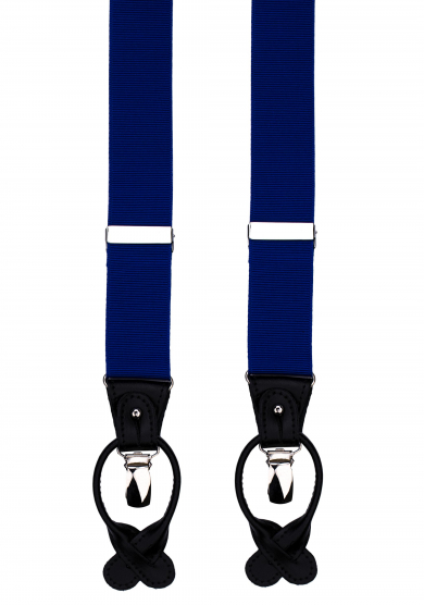 BLUE RIBBED SUSPENDERS