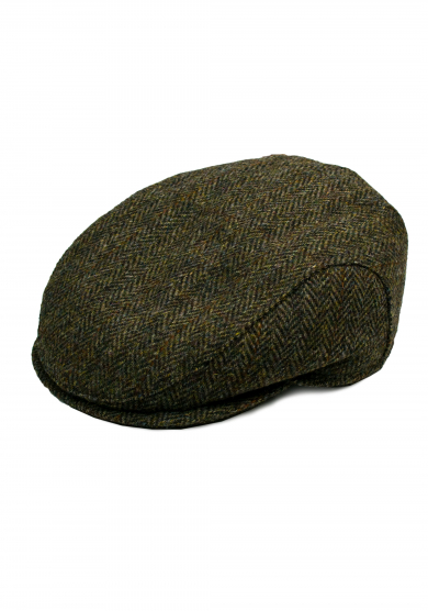 BROWN WOOL TWEED CAP