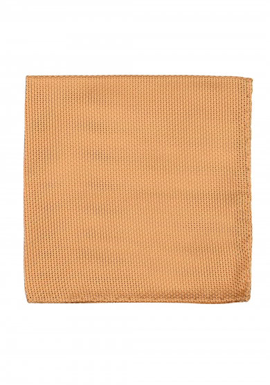 CHAMPAGNE GRENADINE SILK POCKET SQUARE