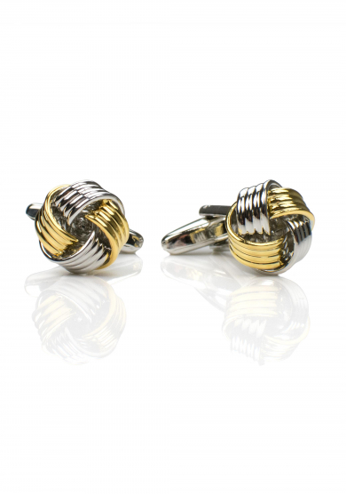 CHROME GOLD KNOT CUFF LINK