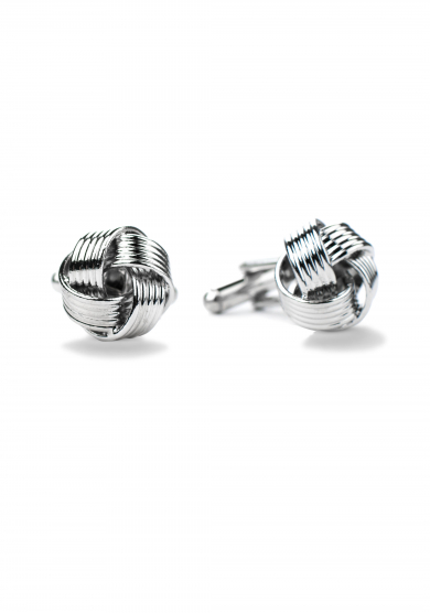 CHROME KNOT CUFF LINK