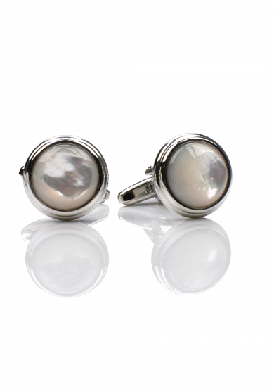 PEARL CHROME CUFF LINK