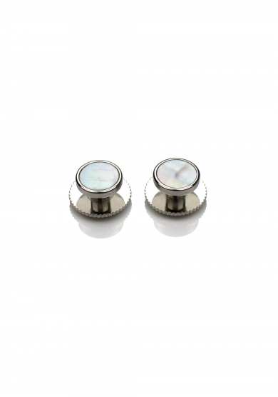 CHROME PEARL SHIRT STUD