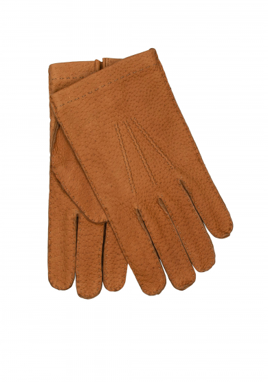 BEIGE PECCARY UNLINED GLOVES