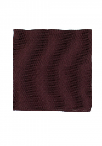 DARK RED GRENADINE SILK POCKET SQUARE