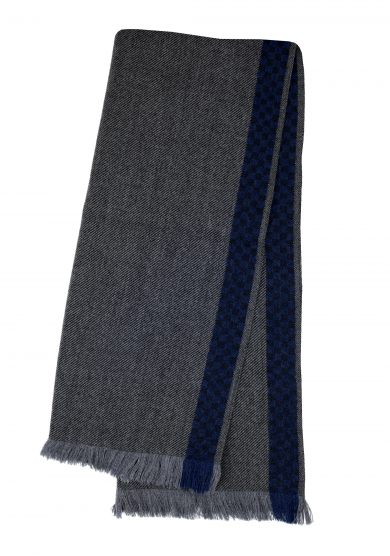 FORMULA 1 DARK BLUE CHECK SCARF