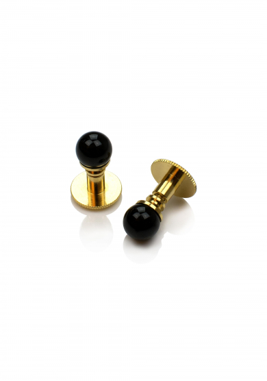 BLACK PEARL GOLD SHIRT STUD