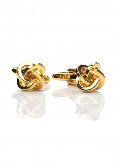 GOLD KNOT CUFF LINK