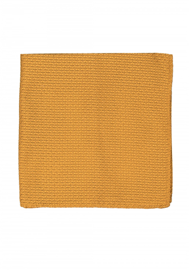 GOLD GRENADINE SILK POCKET SQUARE