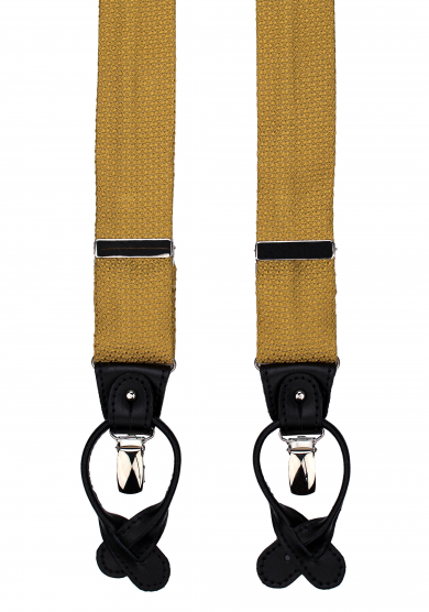 GOLD GRENADINE SUSPENDERS