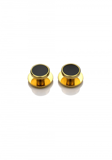 GOLD ONYX SHIRT STUD