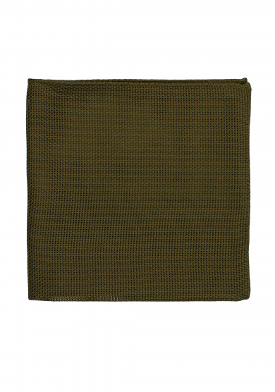 OLIVE GREEN GRENADINE POCKET SQUARE