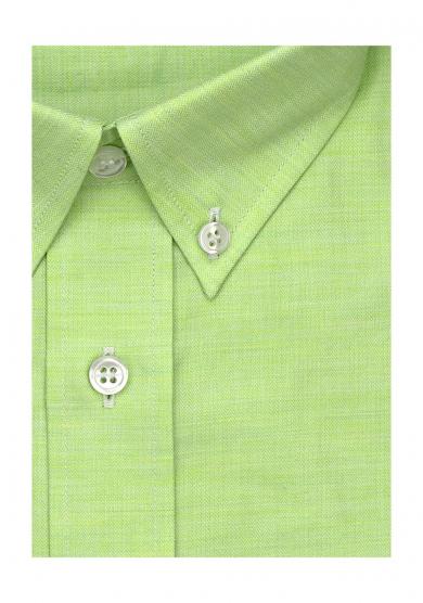 GREEN HERRINGBONE TWILL