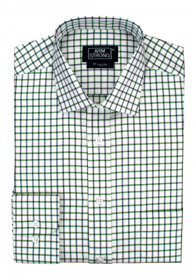 GREEN NAVY CHECK OXFORD