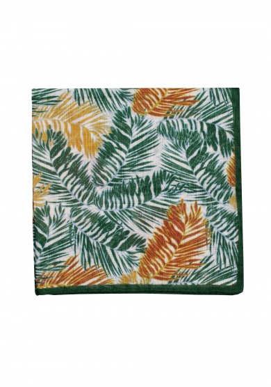 PALM TREE COTTON LINEN POCKET SQUARE
