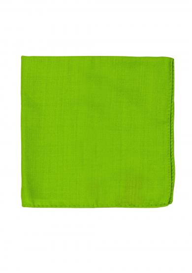 GREEN WOOL SILK POCKET SQUARE