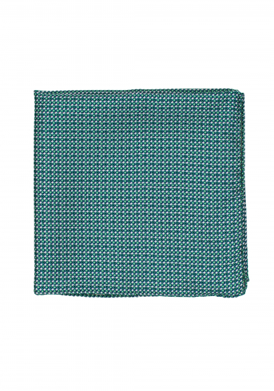 GREEN CIRCLE PATTERN POCKET SQUARE