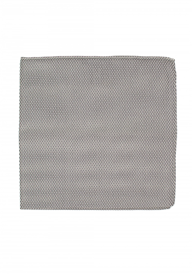 GREY GRENADINE SILK POCKET SQUARE