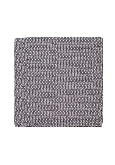 GREY WHITE GRENADINE POCKET SQUARE