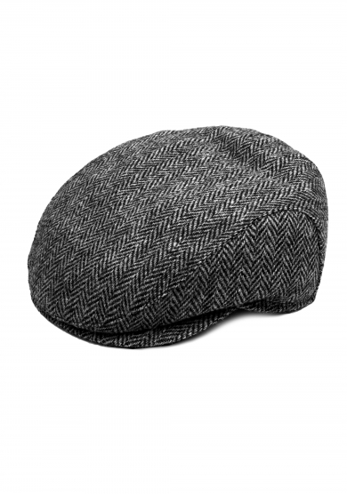 GREY HARRIS TWEED WOOL CAP