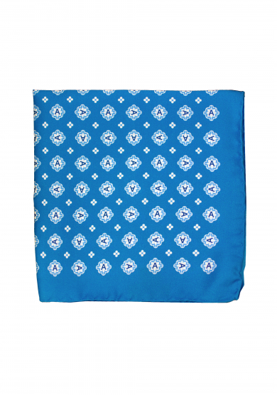 BLUE EMBLEM POCKET SQUARE
