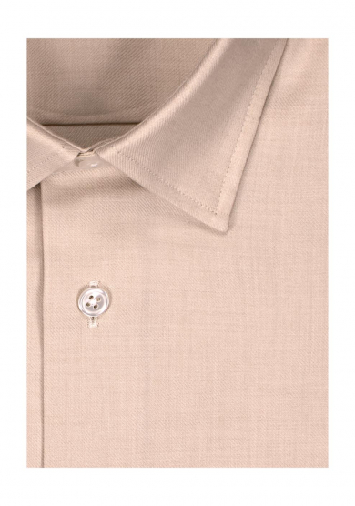 LIGHT BEIGE COTTON CASHMERE TWILL