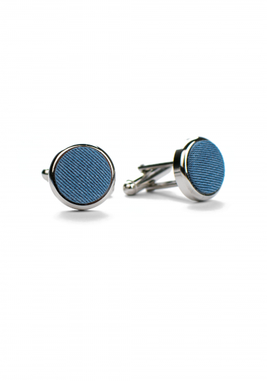 LIGHT BLUE DENIM CUFF LINK