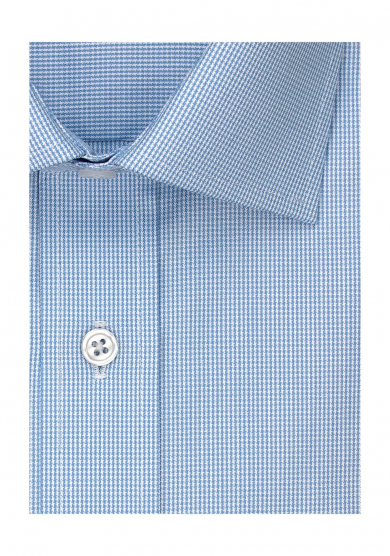 LIGHT BLUE DOGTOOTH PINPOINT OXFORD