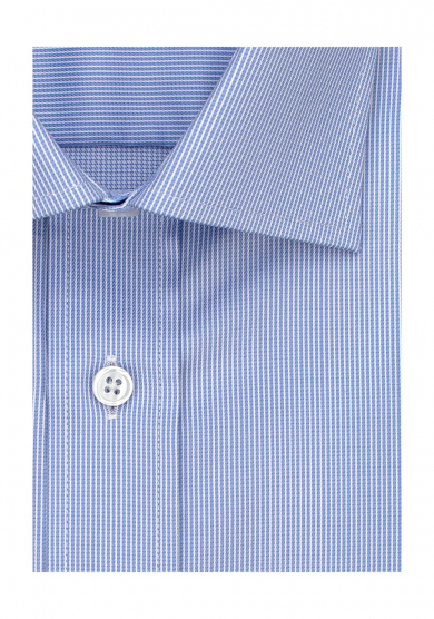 LIGHT BLUE STRIPE STRETCH TWILL