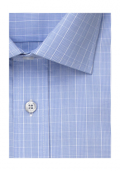 LIGHT BLUE PRINCE OF WALES POPLIN