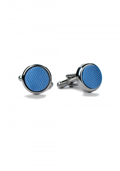 LIGHT BLUE SILK CUFF LINK
