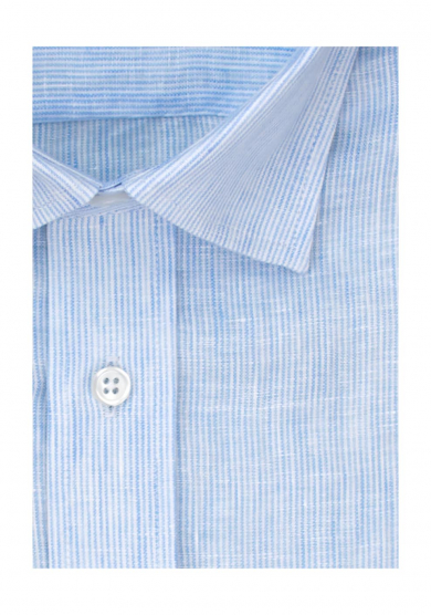 LIGHT BLUE STRIPE LINEN