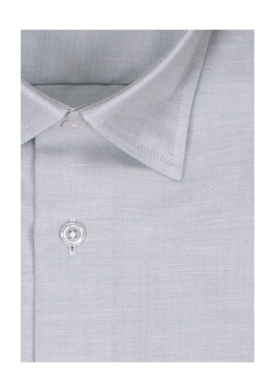 LIGHT GREY HERRINGBONE COTTON CASHMERE TWILL