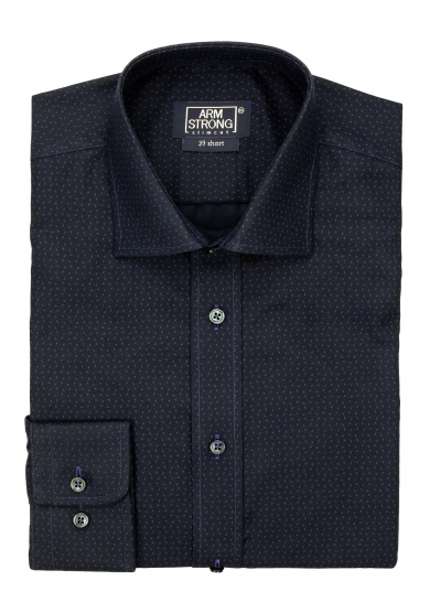 NAVY BLUE DOTS PRINTED TWILL